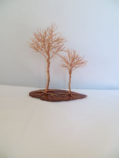 Wire Tree Sculpture Copper Tree of Life Wedding by ArtfullyWrapped, $60.00