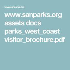 www.sanparks.org assets docs parks_west_coast visitor_brochure.pdf West Coast, Parks, Parkas