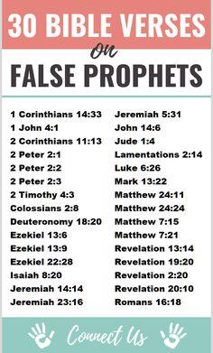 30 Important Bible Scriptures on False Prophets