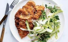 Fennel Salad, Asparagus Salad, Asparagus Recipe, Fennel Recipes, Meat Recipes, Chicken Recipes, Easy Salad Recipes, Easy Salads, Braised Pork Shoulder