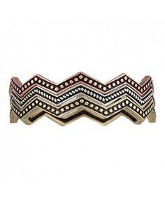 Rock 47 Pins and Needles Tri-Color Triple Zig-Zag Bracelets
