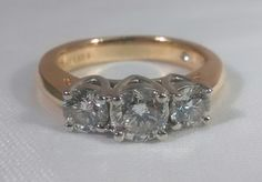 I.G.I Certified Leo 3 Diamond Engagement Ring 1.49 CTW Set in 14k and Platinum