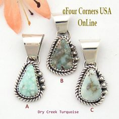 Four Corners USA Online - Petite Dry Creek Turquoise Sterling Pendant Navajo Artisan Alice Johnson NAP-1567 Special Buy Final Sale, $32.00 (http://stores.fourcornersusaonline.com/petite-dry-creek-turquoise-sterling-pendant-navajo-artisan-alice-johnson-nap-1567-special-buy-final-sale/)