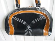 Large Black and Brown Handbag Faux Leather  NWT  #ShoulderBag