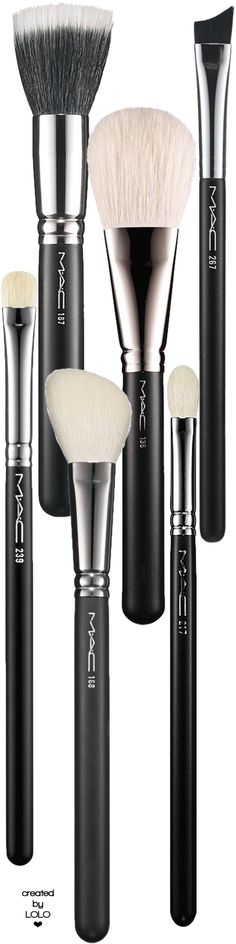M·A·C Makeup Brushes | LOLO❤ that eyeliner brush shapes to your lid