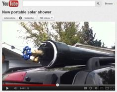 External Roof Top Solar Shower from 4 Inch PVC Tube for Van Roof