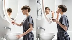 Don't Go To The Mirror, Let The Mirror Come To You! This would be great! My back wouldn't hurt anymore!!