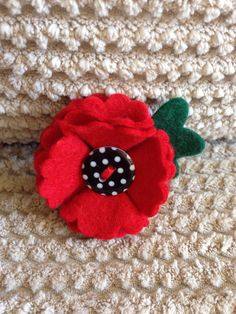 I now have 3 of these left. The price is higher than before as I would like to raise as much money as possible for the poppy appeal. Raised almost £100 so far!    £20 each (100% of the price for this poppy will be donated to the Royal British Legions Poppy Appeal).    A beautiful poppy brooch handmade from felt includes a pin on the back to attach to clothes. I will be donating 100% of all sales of poppies to the Poppy Appeal so please donate more if you wish, it will be gratefully received…
