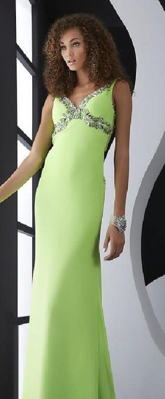 Sexy A-Line V-neck Sage Sleeveless Natural Evening Dress lkxdresses16542bhj #longdress #promdress