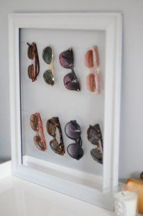 Picture frame sunglass holder    10 Things to Repurpose This Weekend LearnVest