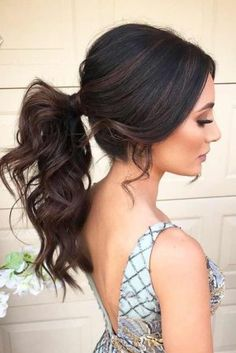 32 Stunning Ponytail Hairstyles To Try in 2019 - Hairstyle - Wedding Hairstyles Valentine's Day Hairstyles, Formal Hairstyles For Short Hair, Trendy Hairstyles, Wedding Hairstyles, Short Hair Styles, Hairstyle Ideas, Messy Ponytail Hairstyles, Ponytail Ideas, Fancy Ponytail