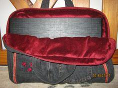 Laptop táska, farmerból