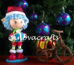 fofucho duende navideño hecho en fomi/goma  eva/foamy