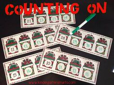 Merry Christmas Math Centers - Counting on from a given number