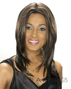Dainty Medium Straight Brown African American Lace Wigs for Women