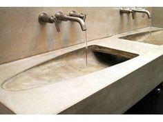 Lavabo doppio rettangolare in cemento STONEHILL - James De Wulf