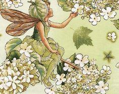 Flower Fairy Morning Garden Cicely Mary Barker fabric 1 yard