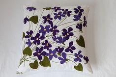 Vera violet napkin pillow