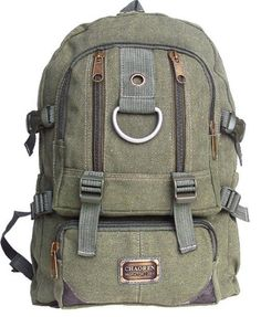 Military-Inspired Daypack It is made from sturdy canvas and it is durable 12aab4a3c2a23