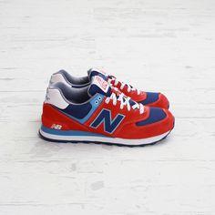 New Balance 574 Red, White & Blue & Blue