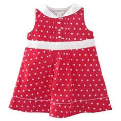 Peter Pan Collar Polka Dot Dress - Beebay Girls - Events This would be so easy to make.