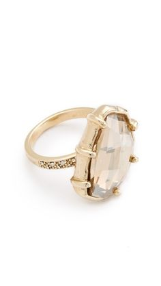 $124 Made Her Think Pave Angle Faceted Dame Ring