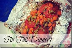 Tin Foil Dinners (basic recipe: choose from list of suggestions) @onesweetappetite.com
