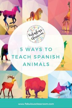 5 fun ways to teach animals in Spanish to kids! Free lessons with tons of resources. #earlylang #langchat #teachspanish #spanishnumbers via @marcycohenturner Learning Spanish For Kids, Spanish Teaching Resources, Kids Learning, Homeschooling Resources, Spanish Lesson Plans, Spanish Lessons, Learn Spanish, Elementary Spanish Classroom, Grouping Students