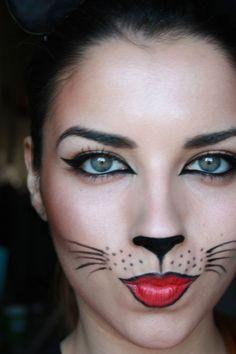 Halloween makeup minus the black lip liner and dots :D