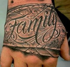 Creative-Hand-Tattoo-Designs-in-Vogue Family Tattoos For Men, Family First Tattoo, Hand Tattoos For Guys, Wrist Tattoos, Body Art Tattoos, New Tattoos, Tribal Tattoos, Sleeve Tattoos, Flower Tattoos