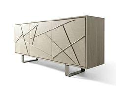 Wooden sideboard with doors Cabinet Furniture, Table Furniture, Home Furniture, Furniture Design, Console Table, Baby Cradle Wooden, Esstisch Design, Wardrobe Room, Dresser Storage