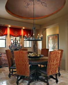 Troon Mountain - mediterranean - dining room - phoenix - by Sanctuaries Interior Design