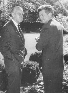 New York Governor Averill Harriman with President Kennedy.