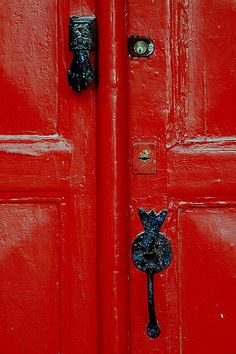 christmas #red #doors