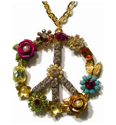 Jill Jacobson Flower Child Peace Necklace