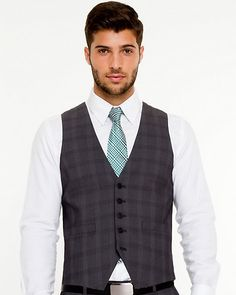 Woven Check City Fit Vest - An essential item in any man's wardrobe, dress this city fit vest up or down to finish off a sharp look. Workout Vest, Suit Vest, Men's Wardrobe, Easy Weight Loss, Welt Pocket, Mens Fashion, Suits, Fitness, Fat