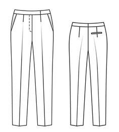 Брюки - выкройка № 106 из журнала 12/2013 Burda – выкройки брюк на Burdastyle.ru