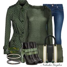 """Green Allegri Coat"" by natasha-gayden on Polyvore"