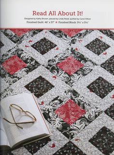Pattern from the book 'Strip-Smart Quilts' by Kathy Brown.