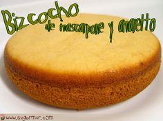 Bizcocho de mascarpone y amaretto para tartas (solo adultos!)…ideal con buttercream de café