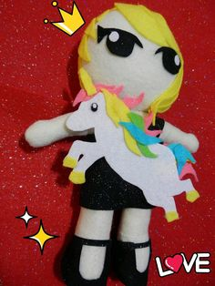 KPOP 2ne1 CL plushie Unicorn outfit version by kirbychan on Etsy, $25.00