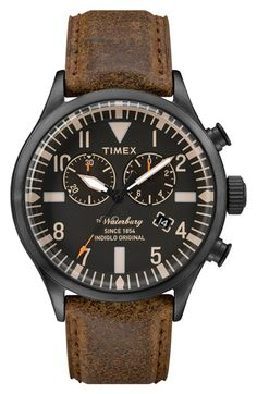 Timex Originals Mens Waterbury Chronograph Watch from House Of Watches. Trendy Watches, Sport Watches, Cool Watches, Watches For Men, Affordable Watches, Expensive Watches, Timex Watches, Seiko Watches, Boots