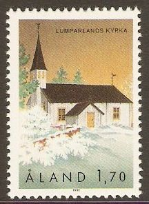 Aland Islands 1990 1m.70 St. Andrew's Church.