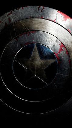 Captain America, shield, superhero, dark, 720x1280 wallpaper