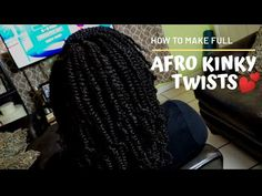 HOW TO: MAKE AFRO KINKY TWISTS FULL - YouTube Natural Hair Twists, Natural Afro Hairstyles, Natural Hair Updo, Braided Hairstyles For Wedding, Dreadlock Hairstyles, Twist Hairstyles, Natural Hair Styles, Black Hairstyles, Afro Kinky Twists
