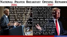 nice National Prayer Breakfast Remarks: President Trump vs. President Obama