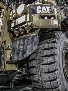 The Caterpillar 795F is one of the largest mining trucks in the world. Weighing-in with an operating weight of 570 metric tons, this gas guzzler carries a heavy punch.  Its 23 feet height (or 50 feet with the body raised) makes it a very intimidating {See Great Prices on these  Heavy Equipment Tire Pressure Monitoring systems
