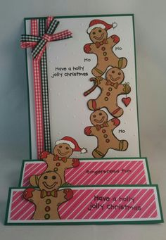 Made by Jenny Redfern Woodware stamp Gingerbread men FRS337