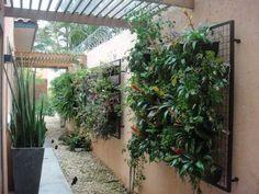 Pergola Over Garage Door Tower Garden, Balcony Garden, Herb Garden, Pergola Patio, Backyard Landscaping, Jardim Vertical Diy, Vertikal Garden, Vertical Garden Design, Interior Garden