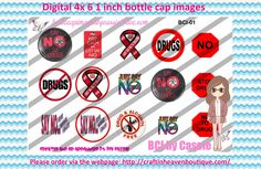 1' Bottle caps (4x6) drug free awareness BCI-01   CAUSES & AWARENESS BOTTLE CAP IMAGES #AWARENESS #CAUSES #bottlecap #BCI #shrinkydinkimages #bowcenters #hairbows #bowmaking #ironon #printables #printyourself #digitaltransfer #doityourself #transfer #ribbongraphics #ribbon #shirtprint #tshirt #digitalart #diy #digital #graphicdesign please purchase via link  http://craftinheavenboutique.com/index.php?main_page=index&cPath=323_533_42_55